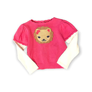 Gymboree toddler pink and white sweater size 2T NWT